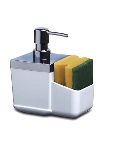 Primanova Primanova Toscana Süngerlikli Mutfak Sıvı Sabunluk Dispenser Beyaz Beyaz